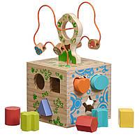 Бізіборд - кубік іграшка для дітей з сортером