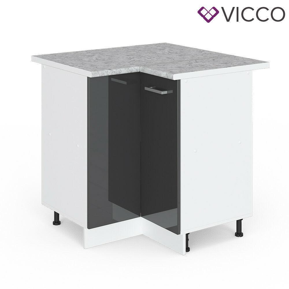 Угловая тумба для кухни Vicco 76х76, антрацит