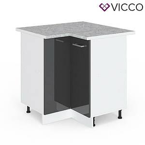 Кутова тумба для кухні Vicco 76х76, антрацит