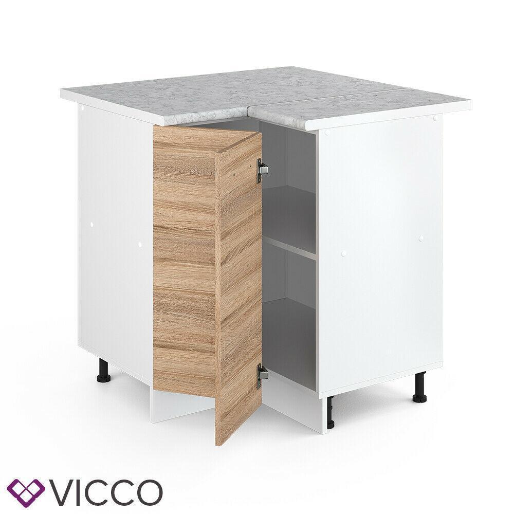 Угловая тумба для кухни Vicco 76х76, сонома