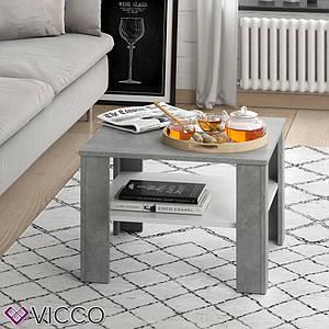 Чайний столик Vicco Homer 60x60, білий, бетон