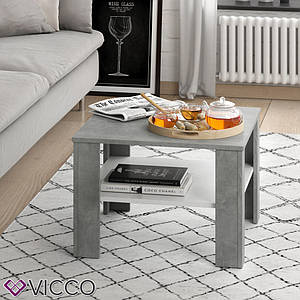 Чайный столик Vicco Homer 60x60, белый, бетон
