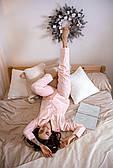 Пижама хлопковая с кантом в горошек