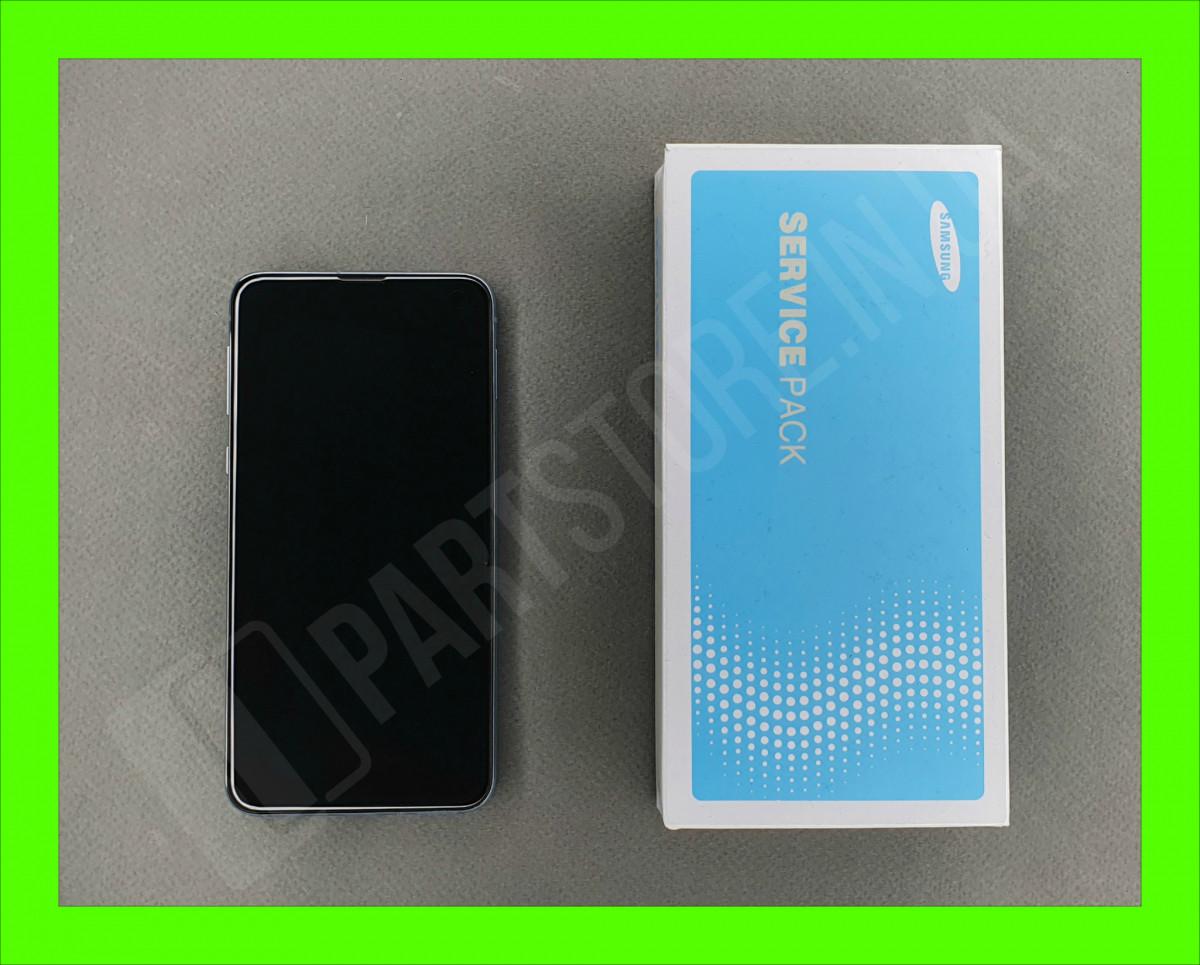 Дисплей Samsung g970 Blue s10e (GH82-18852C) сервисный оригинал в сборе с рамкой