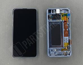 Дисплей Samsung g970 Blue s10e (GH82-18852C) сервисный оригинал в сборе с рамкой, фото 2
