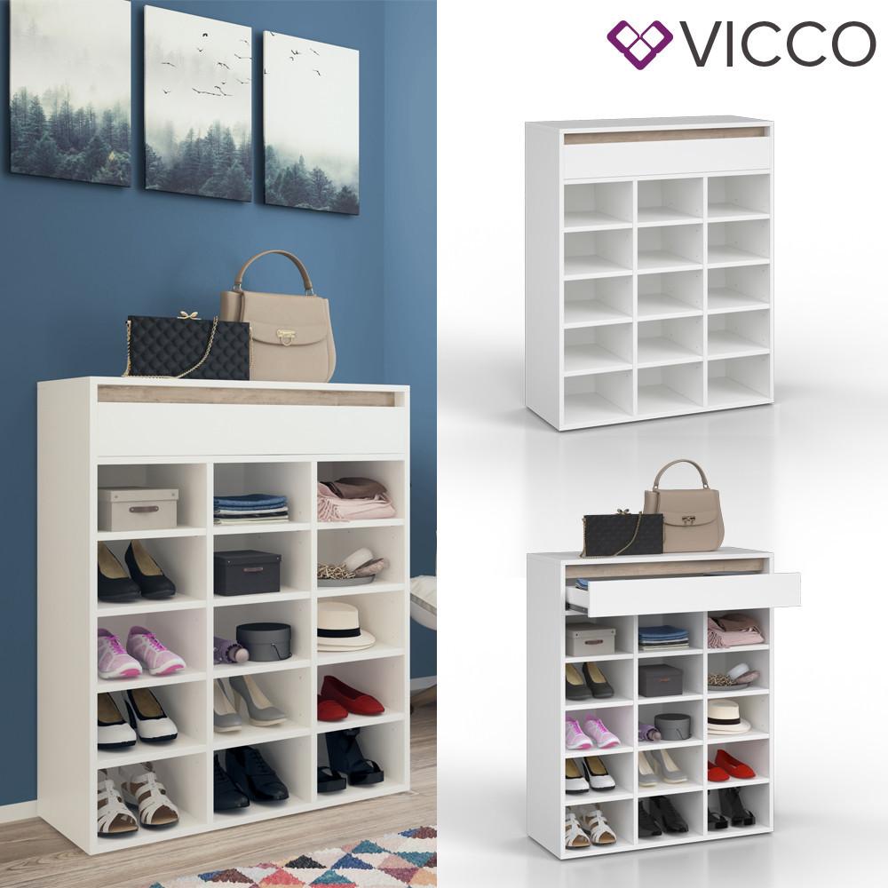 Шафа для взуття 80x98 Vicco Emma, біла