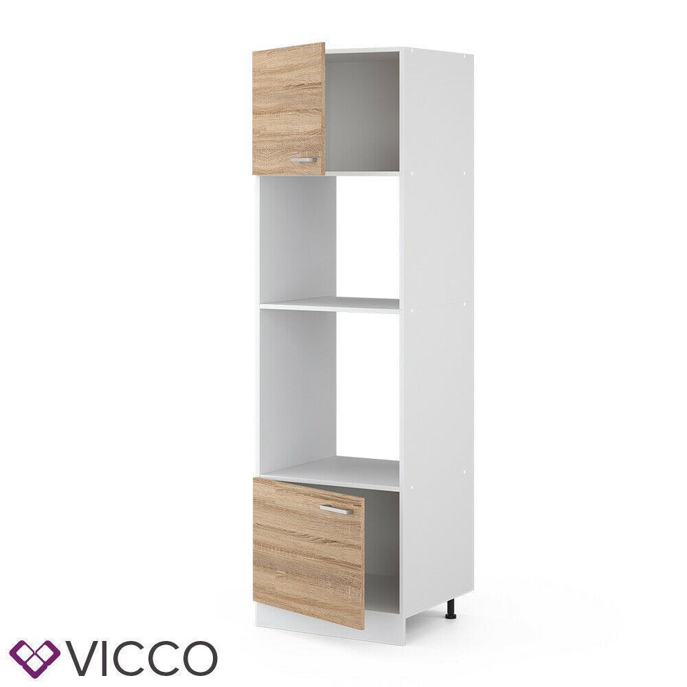 Шкаф духовка/микроволновка 60х207 Vicco, сонома