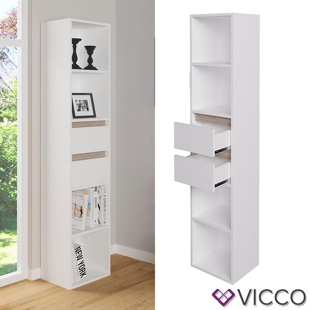 Шкаф пенал Vicco Robert, 36x171, белый