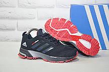 Кроссовки подростковые/женские синие с красым сетка в стиле Adidas Springblade унисекс