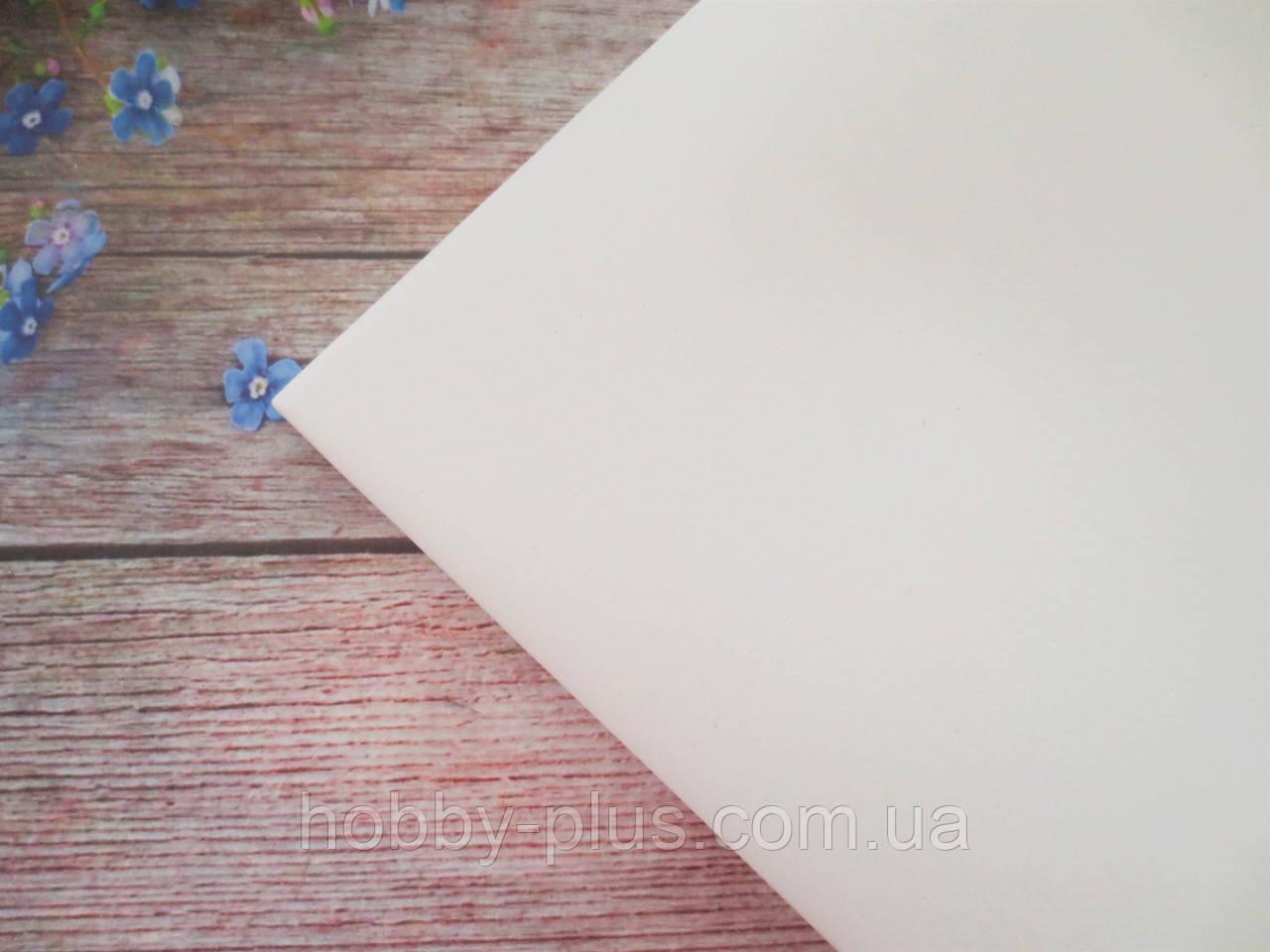 Фоамиран 1 мм, 50х50 см, колір білий
