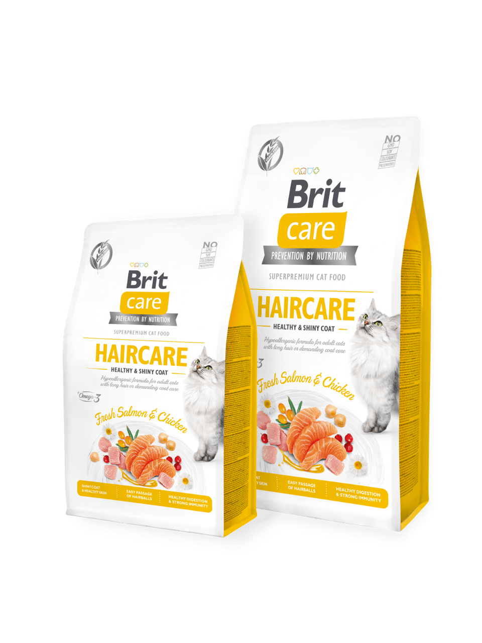 Корм для котов Brit Care Cat GF Haircare Healthy and Shiny Coat 2кг