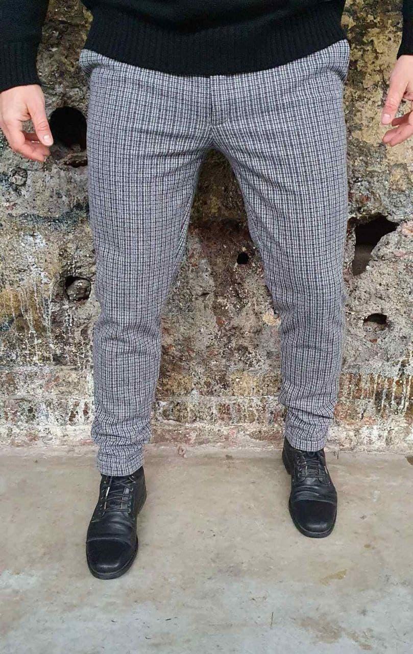 Мужские брюки теплые в клетку О Д
