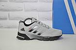 Кроссовки беговые подростковые/женские серые сетка в стиле Adidas Springblade, фото 5