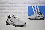 Кроссовки беговые подростковые/женские серые сетка в стиле Adidas Springblade, фото 4
