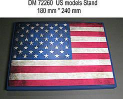 Подставка под модели (тема - США).  1/72 DANMODELS DM72260