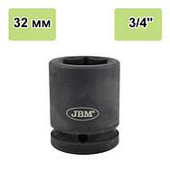 """Ударная головка торцевая 32 мм 3/4"""". 11135 JBM, фото 1"""