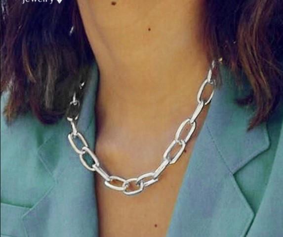 Массивная цепочка на шею ожерелье колье