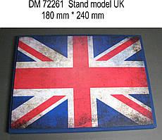 Подставка под модели (тема - Великобритания).  1/72 DANMODELS DM72261