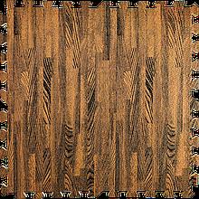 Модульное напольное покрытие 600*600*10 мм коричневое дерево. Мягкий пол eva