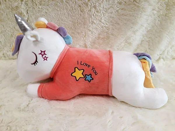 Плед - мягкая игрушка 3 в 1 (Единорог в кофточке розовый)