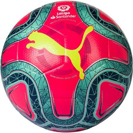 Мяч футбольный Puma La Liga 1 Hybrid 083399-02 Красный, фото 2