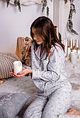 Пижама фланелевая с кантом с принтом звезд