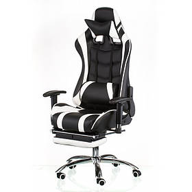 Крісло ExtremeRace black/white with footrest
