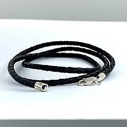 Шнурок плетенный кожаный из высококачественной натуральной кожи.