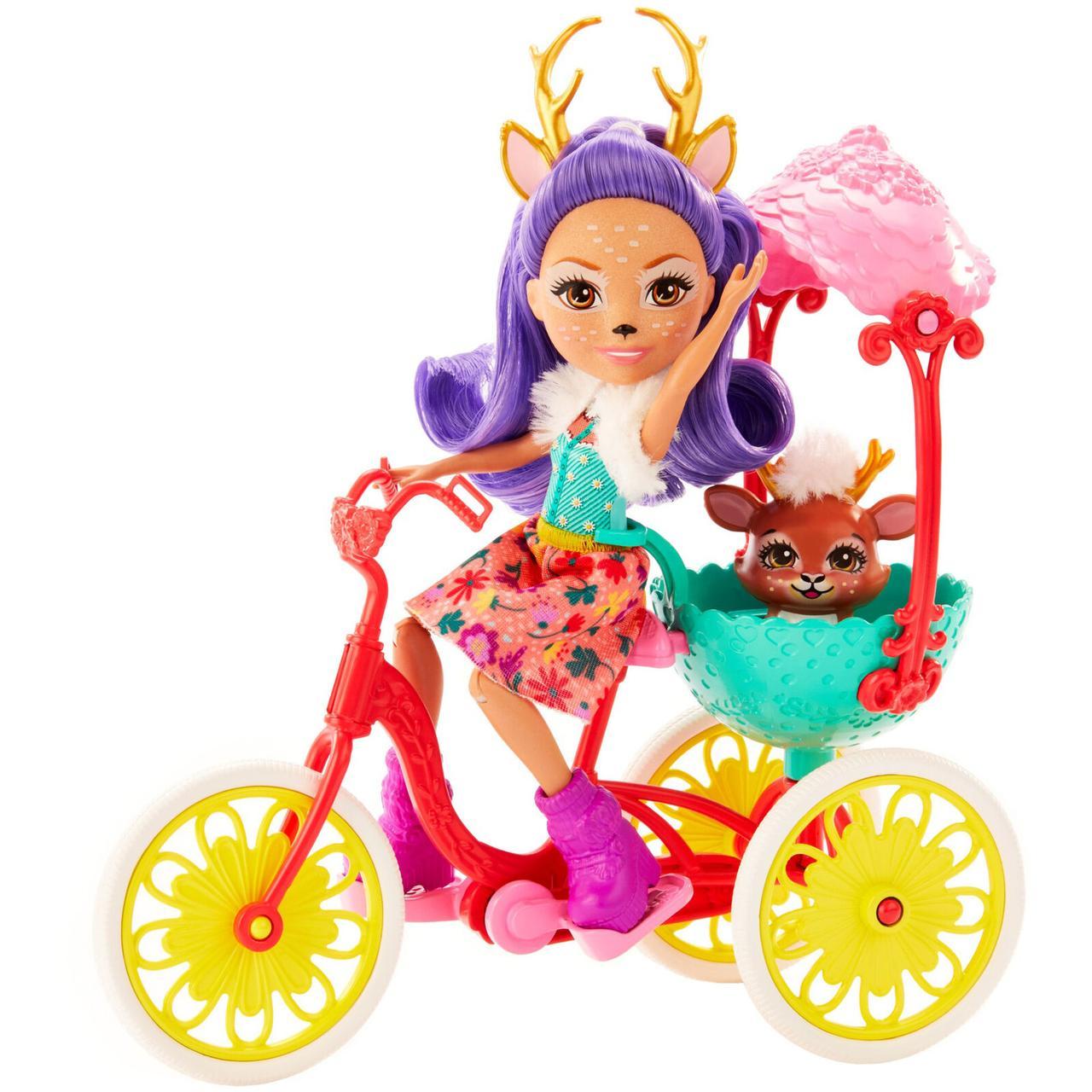 Enchantimals Енчантималс Данесса на велосипеде Bicycle Friends Playset with Danessa Deer Doll mattel GJX30