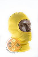 Балаклава трикотажна жовта тонка літня за ціною виробника, фото 1