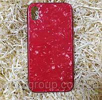Чехол Мрамор для Iphone XR, Red (Full Case)