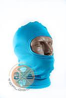 Балаклава трикотажна голуба блакитна літня за ціною виробника, фото 1