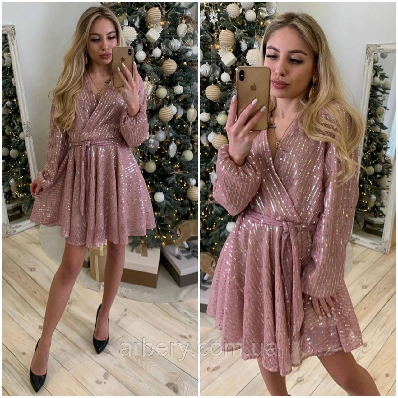 Шикарное блестящее платье с пышной юбкой