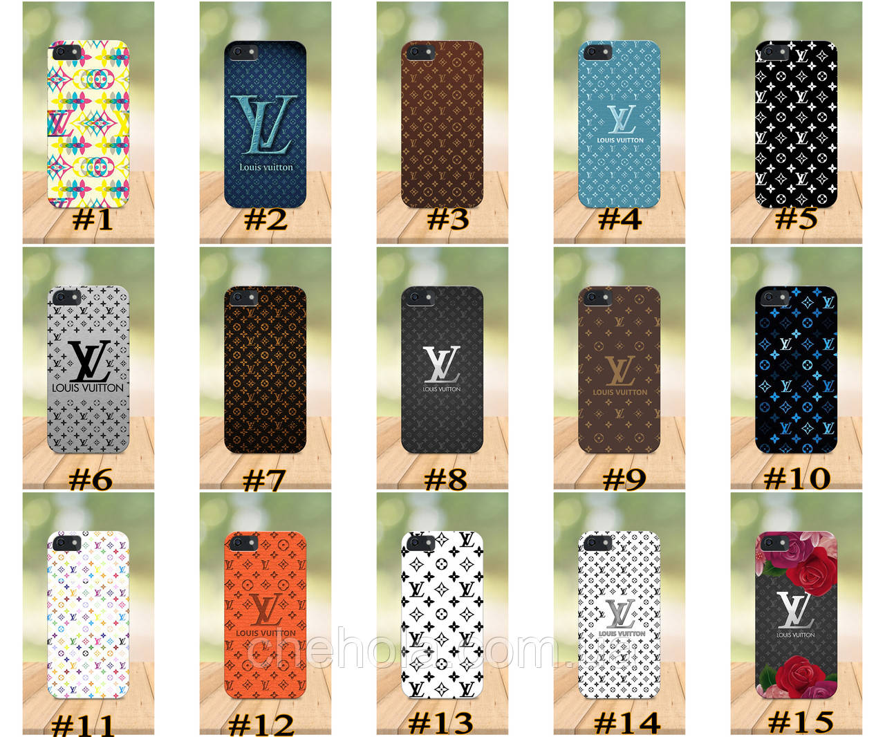 Чохол на iPhone 5 5s SE 4 4S бампер накладка з принтом в стилі LV Louis Vuitton