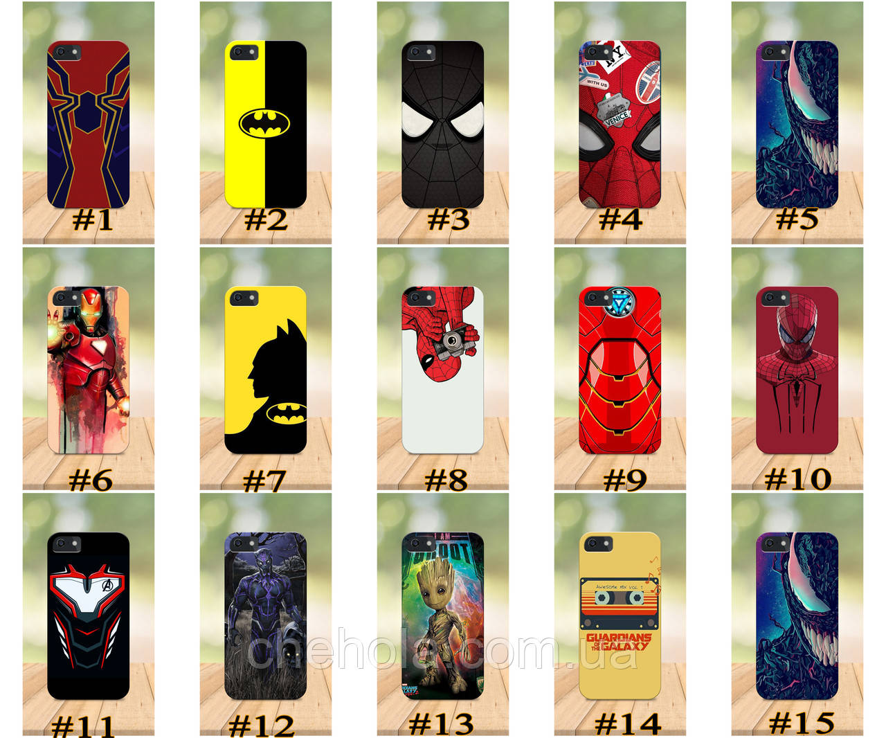 Чехол на iPhone 5 5s SE 4 4S бампер накладка с принтом бампер накладка с принтом Marvel DC Комиксы