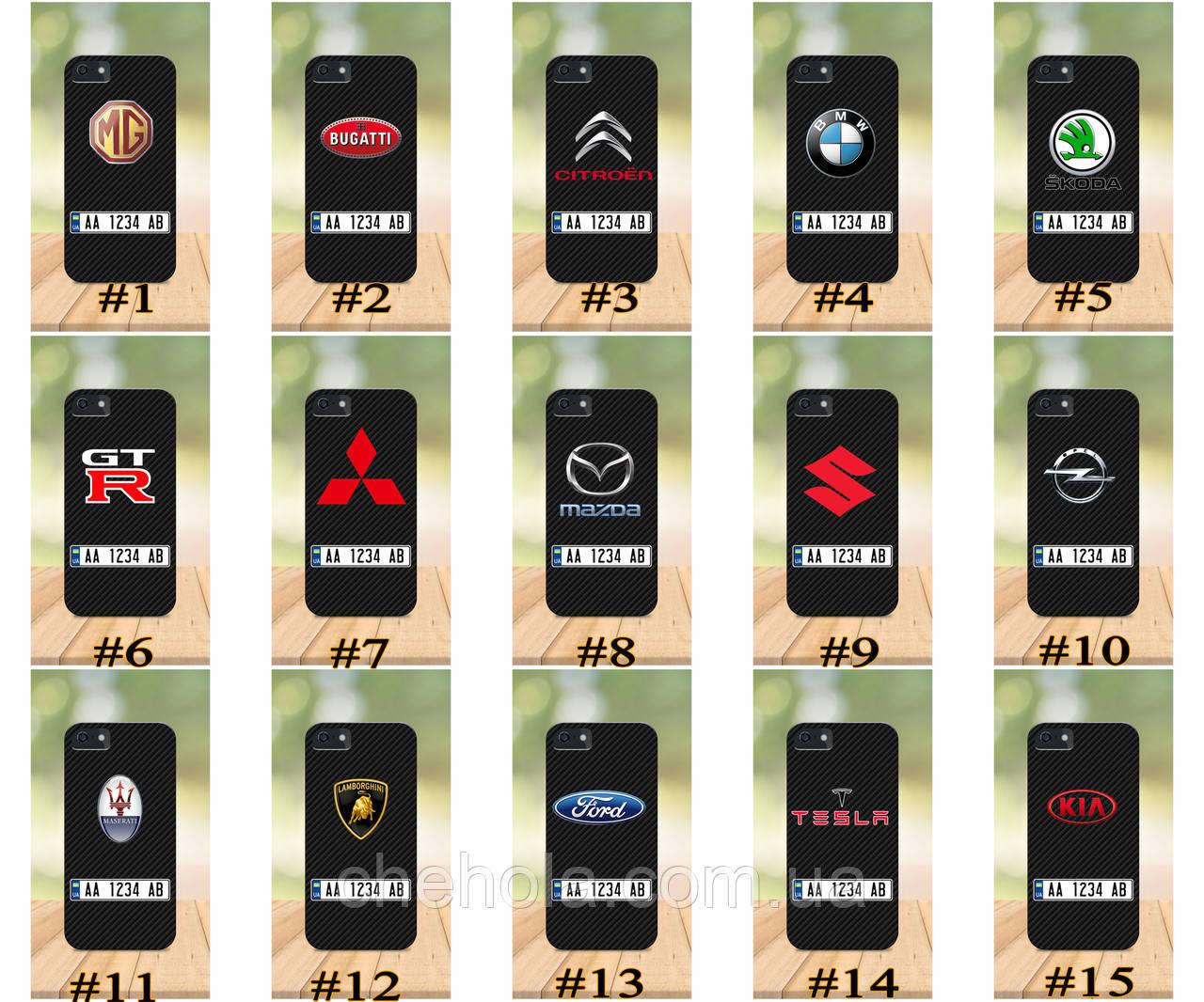 Чехол на iPhone 5 5s SE 4 4S бампер накладка с принтом бампер накладка с принтом авто марка с номером