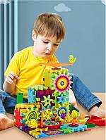 Детский конструктор Funny Bricks (81 деталь), шестеренки, Фанни Брикс, развивающий 3D