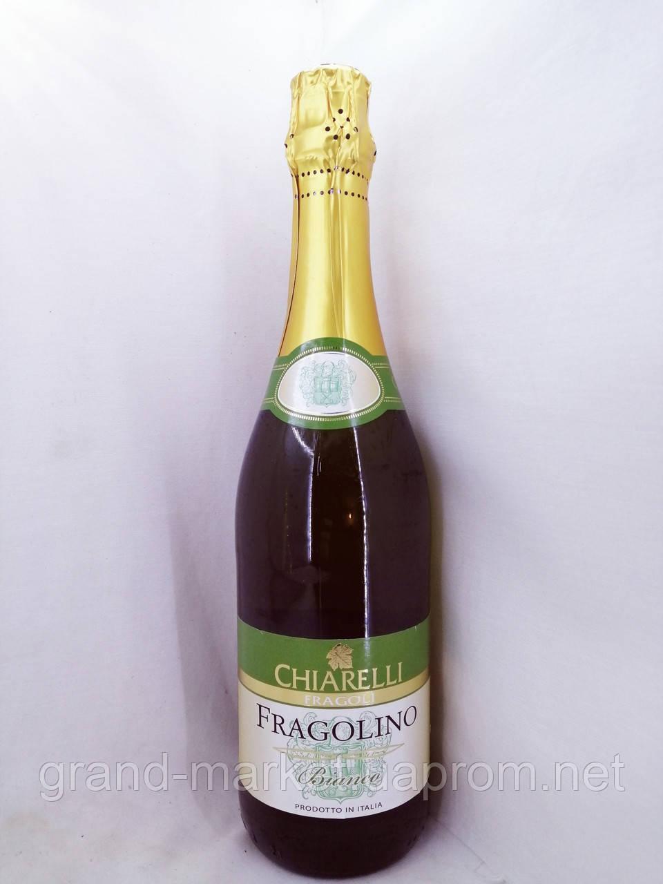 Вино игристое белое полусладкое Fragolino Chiarelli bianco 0.7л