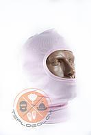Балаклава трикотажна рожева за ціною виробника, фото 1