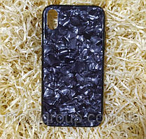 Чехол Мрамор для Iphone XR, Black (Full Case)