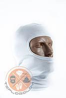 Балаклава трикотажна БАВОВНА тонка біла за ціною виробника, фото 1
