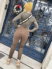 Джоггеры, джинси на резинці коттонові унісекс, накладні кишені карго, є великі розміри NN, фото 2