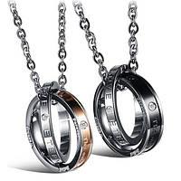 Двойные кулоны для влюбленных с гравировкой Подарок парню и девушке на 14 февраля