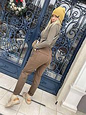 Джоггеры, джинси на резинці коттонові унісекс, накладні кишені карго, є великі розміри NN, фото 3