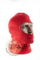 Балаклава трикотажна червона за ціною виробника