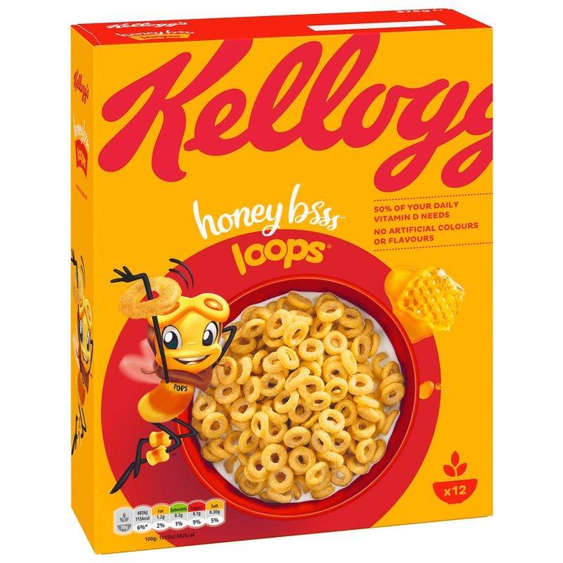 Хлопья Kellogg's Honey Bee Loops, 375 г