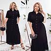 Повседневное женское длинное платье с разрезом большого размера, размеры 48-50, 52-54, 56-58, фото 2