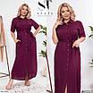 Повседневное женское длинное платье с разрезом большого размера, размеры 48-50, 52-54, 56-58, фото 4