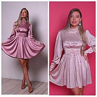 Шикарное шелковое платье в горошек, фото 1