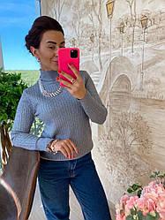 Красивый женский трикотажный свитер машинная вязка